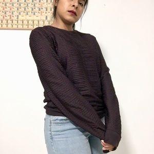 TOPMAN Purple Snakeskin -ish Purple Sweater S